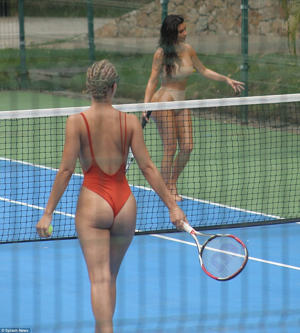 Naked Ladies Playing Tennis