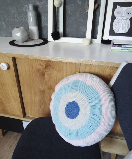 poduszka  w stylu skandynawskim diy