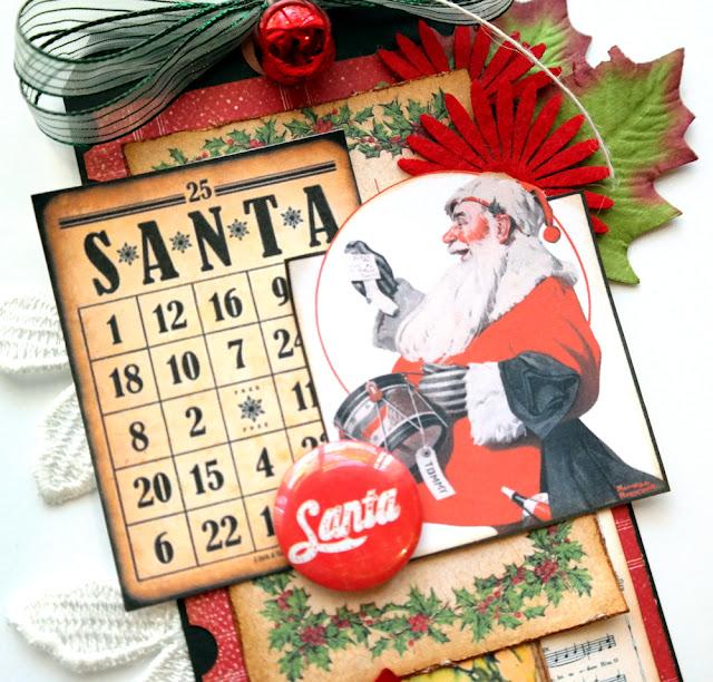 Rockwell Christmas Santa Tag Tutorial by Dana Tatar for Gecko Galz