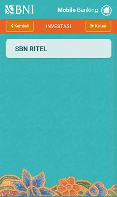mobile banking menu SBN ritel BNI