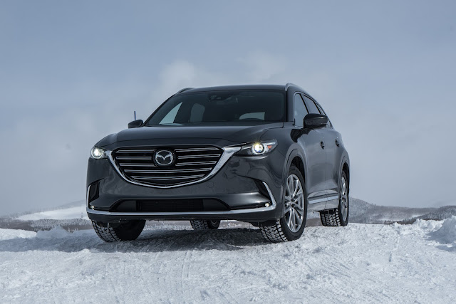 Front 3/4 view of 2017 Mazda CX-9 Signature AWD