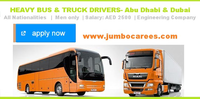 Bus driver jobs at Dubai.