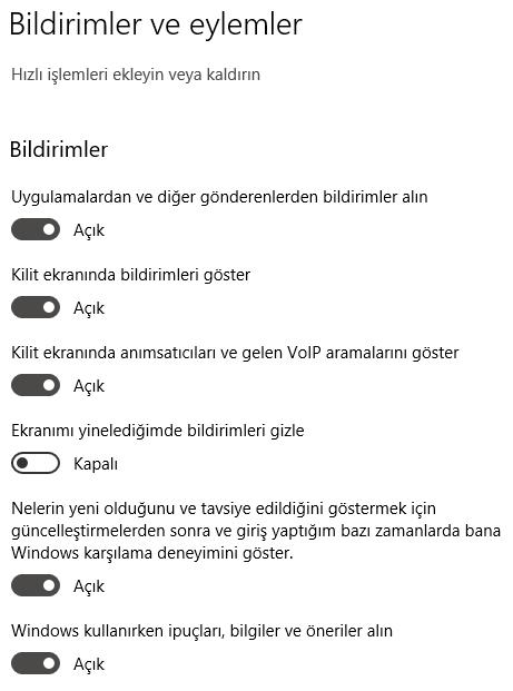 Windows 10'da Bildirim Kapatma Nasıl Yapılır?