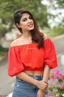 Rhea Chakraborty in Red Crop Top and Denim Shorts Spicy Pics ~  Exclusive 086.JPG