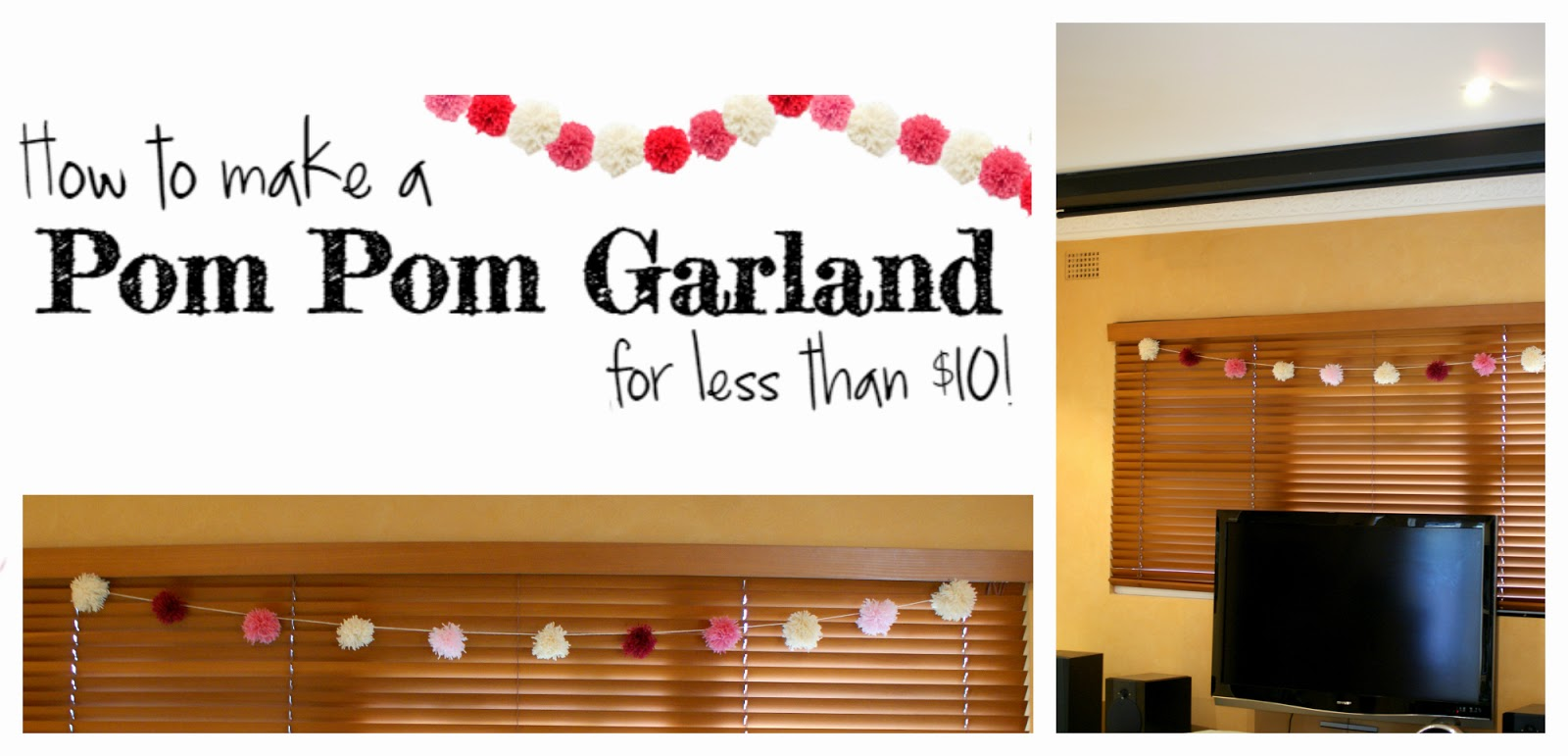 How to Make a Pom Pom Garland on a Budget - Cheap Party Decoration DIY Ideas