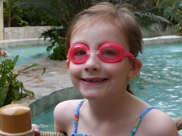sasha with goggle on at center parcs