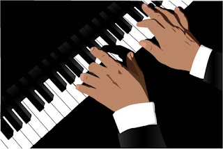 Hands at piano