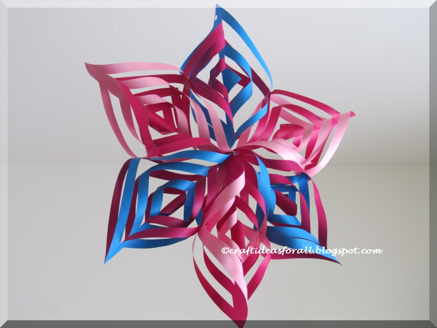 Craft ideas for all christmas decoration 3d snowflake or star for 3d star decoration