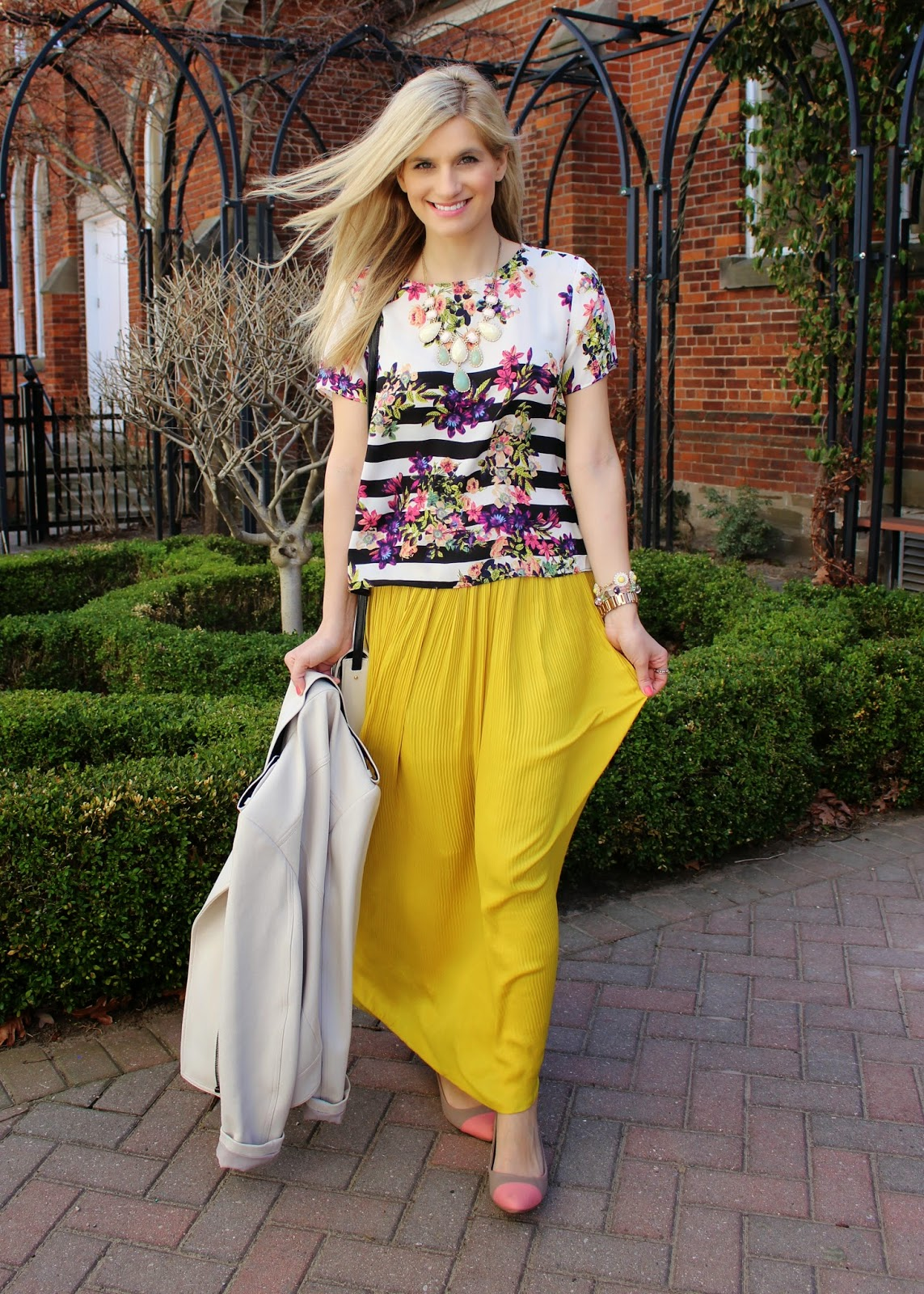 bijuleni - maxi skirt and floral top