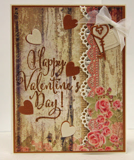 Our Daily Bread Designs Stamp: Happy Valentine's Day, Paper Collection: Blushing Rose, Custom Dies: Keys, Layering Hearts