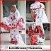 PSMT128A Mukenah Bali Warna Merah Ala Lukis Bordir