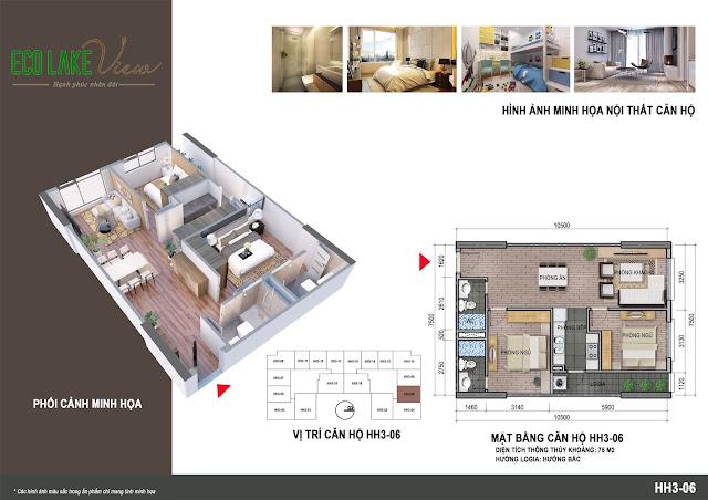 Thiết kế căn hộ số 06 tòa HH03