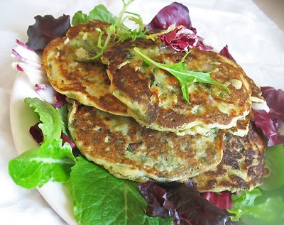 spinach pancakes with lime butter