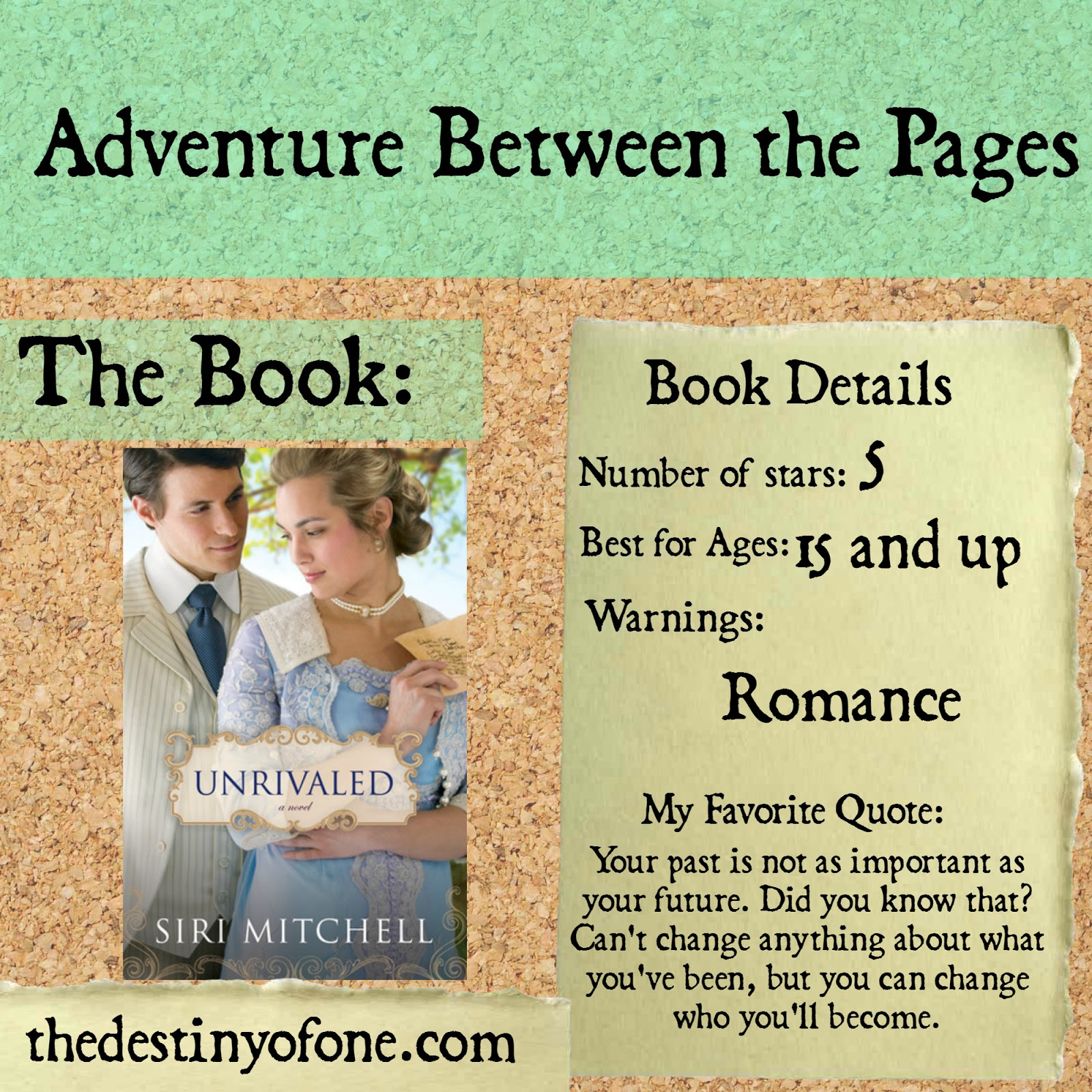 The Destiny Of One Adventure Between The Pages Unrivaled border=