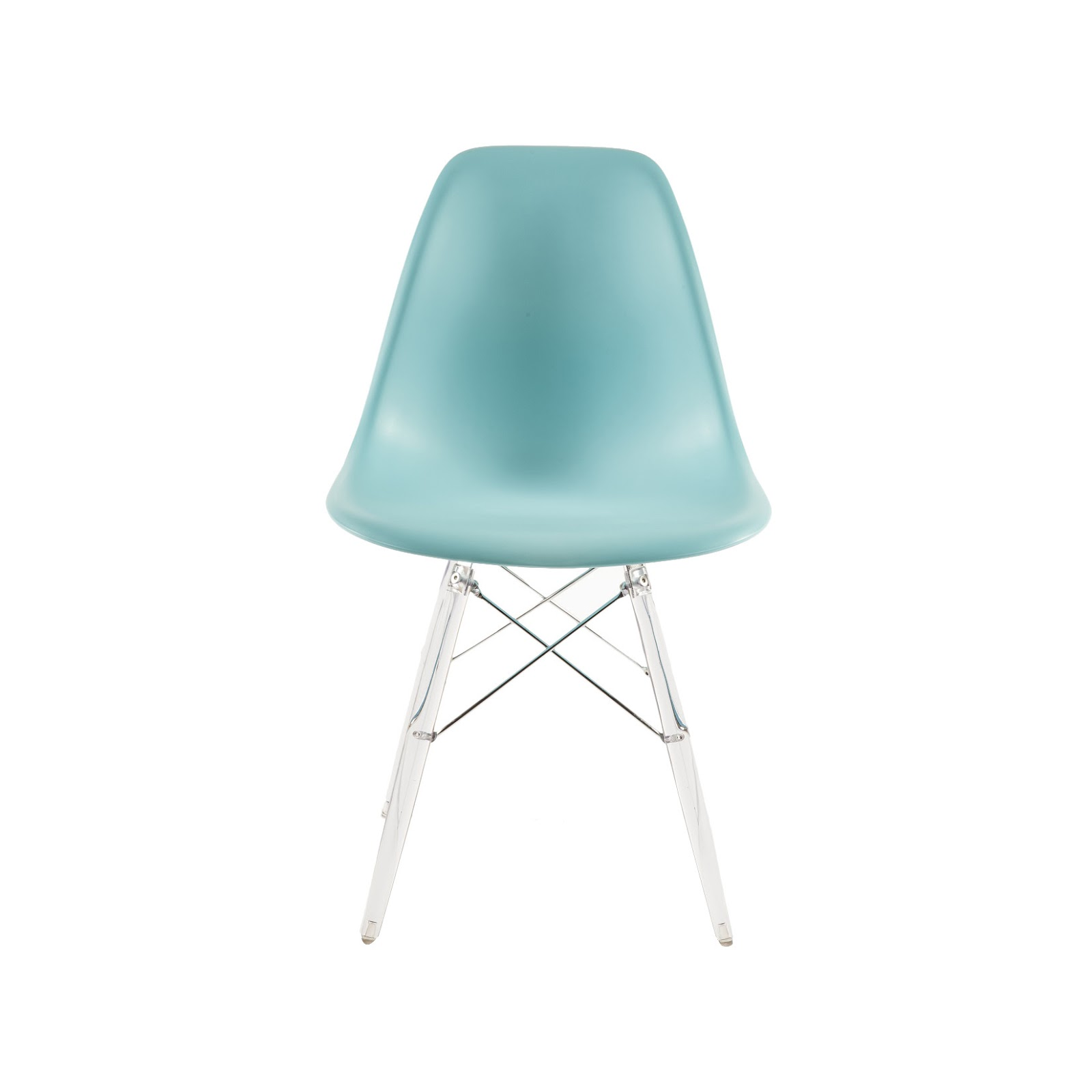 turquoise mid-century modern dining chair // Wayfair