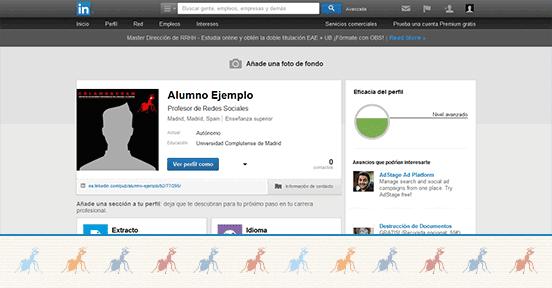 LinkedIn es una red social para profesionales donde has de destacar
