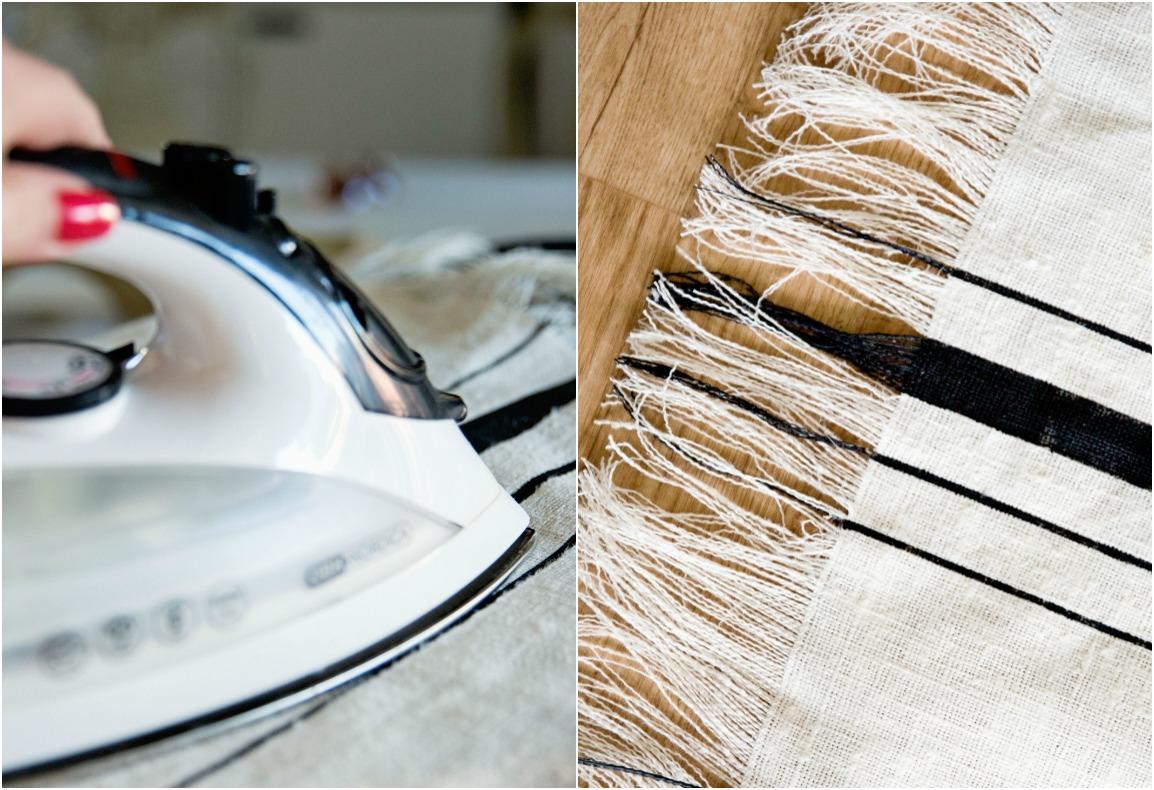 Pellavapyyhe diy käsityö kangasväri