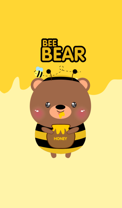 Cute Bee Bear Theme