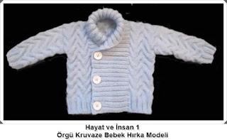 Örgü Bebek Hırka Modeli