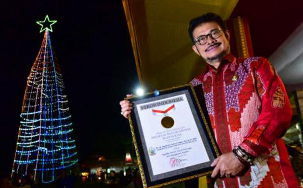 Toraja Utara Pecahkan Dua   Rekor MURI  Dalam Event Lovely December 2017 DI Toraja Utara