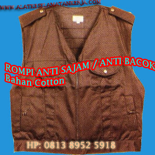 Rompi anti sajam bahan Cotton coklat