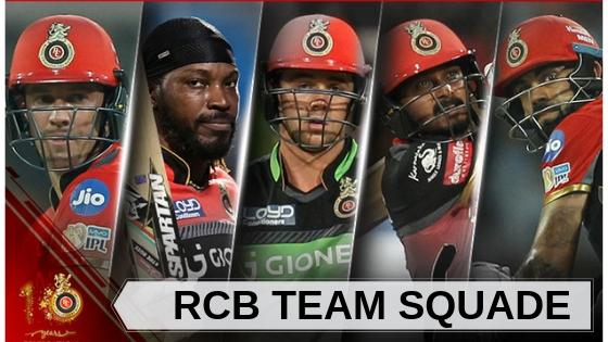 rcb team squade
