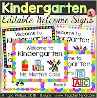 Preschool welome posters editable