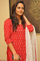 Anasuya Bharadwaj in Red at Kalamandir Foundation 7th anniversary Celebrations ~  Actress Galleries 024.JPG