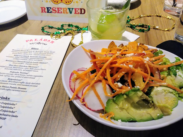 Paladar Latin Kitchen | Roasted sweet potato and avocado grain bowl.