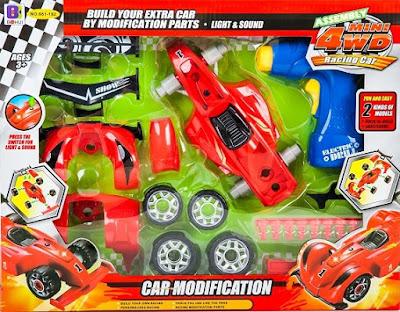 Skręcane autko wyścigowe