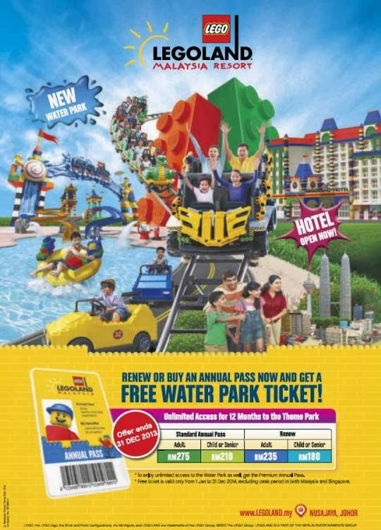LEGOLAND Malaysia: Get A FREE Water Park Ticket When Renew ...