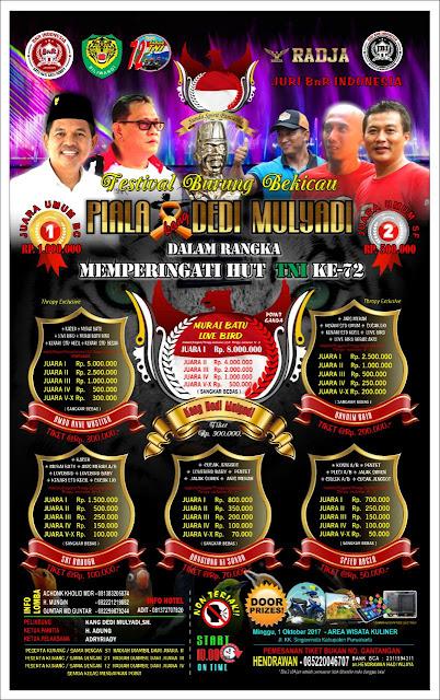 Brosur Lomba Piala Dedi Mulyadi, Minggu 1/10/2017