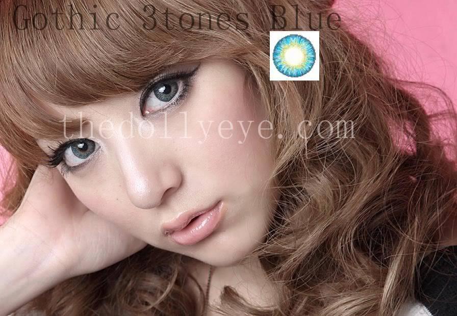 contact lens, gothic tritones blue