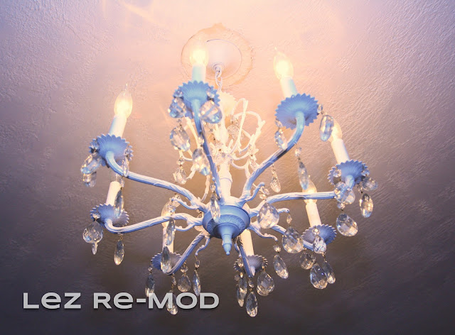 white chandelier, painted chandelier, vintage