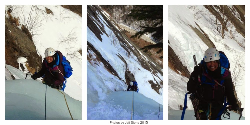 multi pitch ice climb, Mount Willard