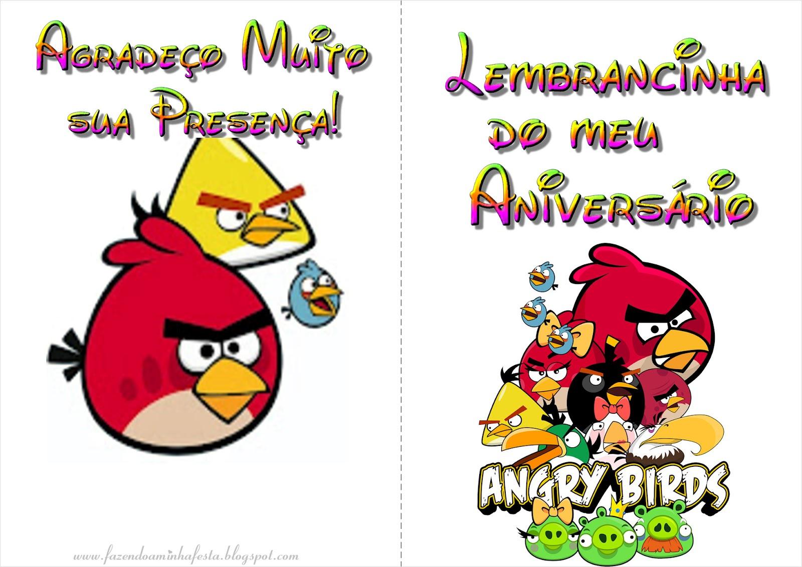 Fazendo A Minha Festa Para Colorir Angry Birds Livrinho De