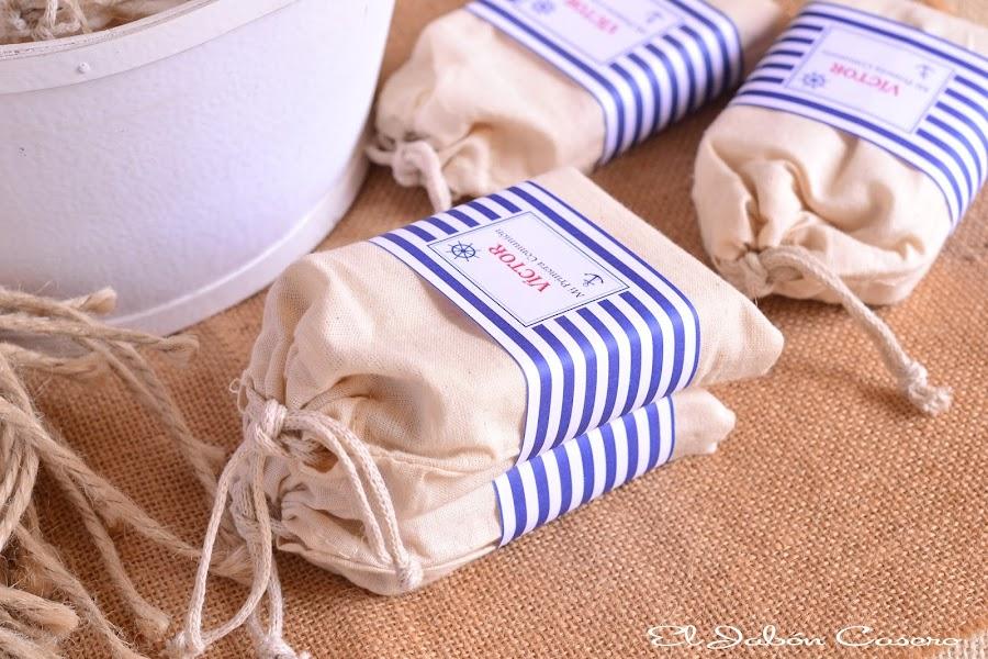Detalles marineros comunion jabones personalizados