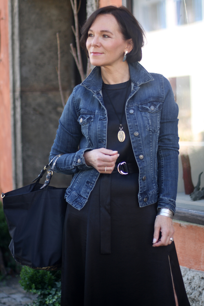 Little Black Dress with Denim Jacket