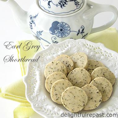Earl Grey Shortbread / www.delightfulrepast.com