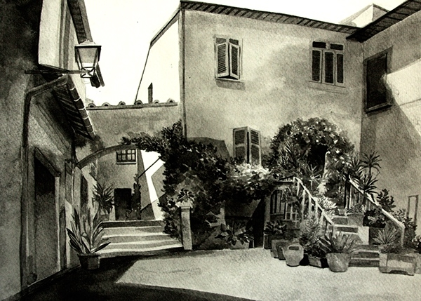 03-Malisa-Suchanya-Enchanting-Architectural-Drawings-of-Viterbo-Italy-www-designstack-co