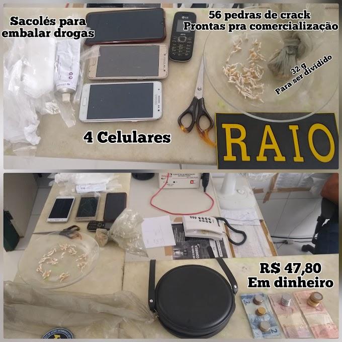 CASAL PRESO EM CRATEÚS POR TRÁFICO DE DROGAS