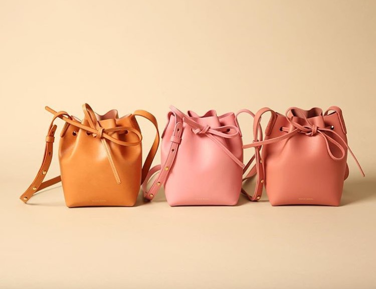 Mansur Gavriel blush bucket bag