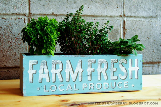 planter box shabby chic kitchen produce box