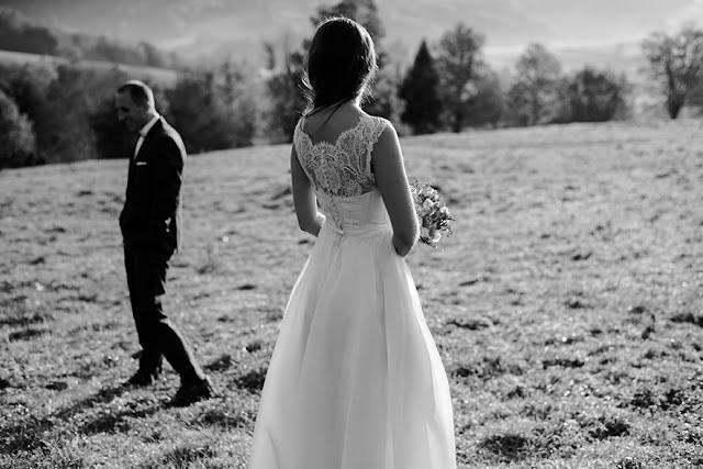 Młoda para, zdjęcia ślubne
