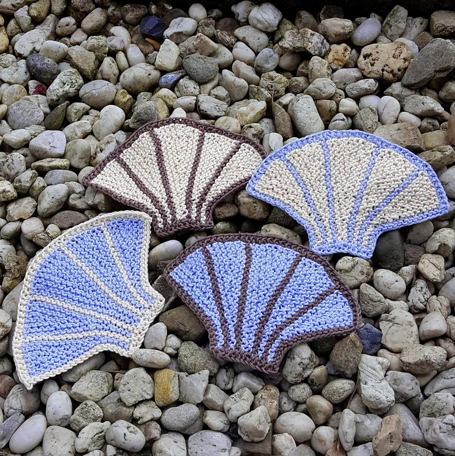 Knitting Pattern Notation : Knitting and so on: She sells seashells on the sea shore - Seashell Coasters