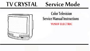 Service Mode TV CRYSTAL Berbagai Type