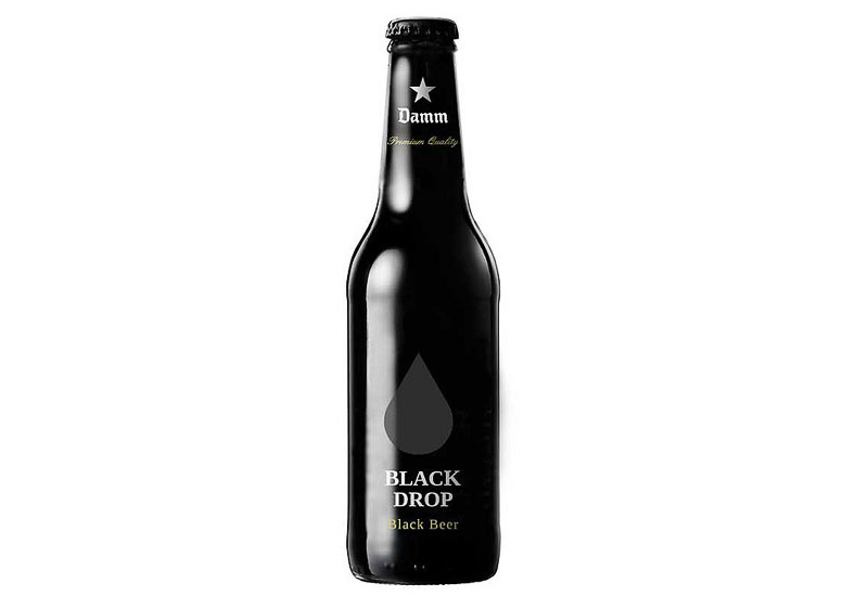 Damm Black Drop Toni García beer packaging