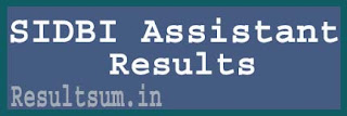 SIDBI Assistant Manager Result 2015