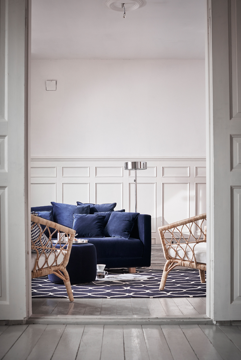 coleccion stockholm ikea sofa azul