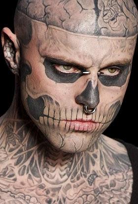 Ser Femeninas Rick Genest El Modelo Más Tatuado Sin Tatuajes